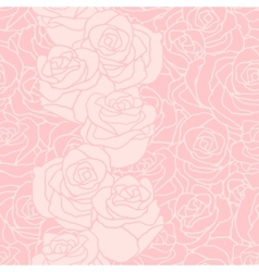 Seamless pattern with flowers roses vector