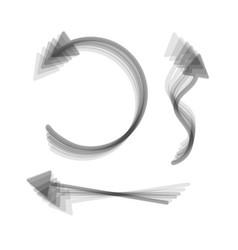 Simple set to interface arrows gray icon vector