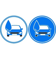Two washing cars with water drop vector