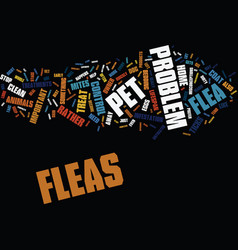 yikes i saw a flea on my dog text background word vector image
