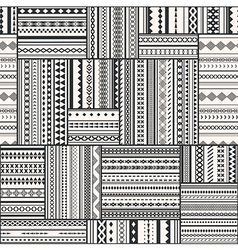 Seamless patchwork pattern vintage ethnic tribal vector