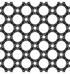 Seamless black white chain pattern vector
