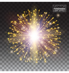 Festive gold glitter particles effect shiny shape vector