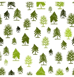 Abstract forest pattern with trees for your design vector