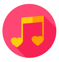music circle icon vector image