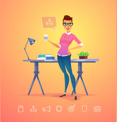 Business woman character isolated vector
