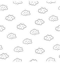 interesting seamless pattern with cute sleeping vector image