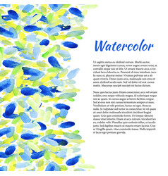 Watercolor background with colorful spots vector