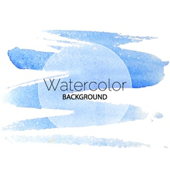 Blue watercolor background black text white circle vector
