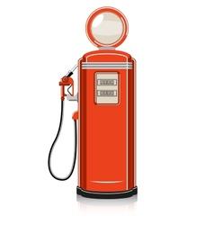 Retro gas pump vector