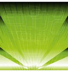 Abstract technical or technology green rays backgr vector