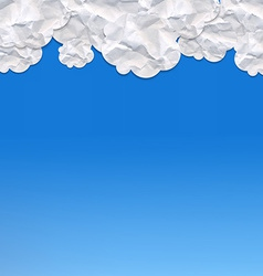 Paper clouds vector