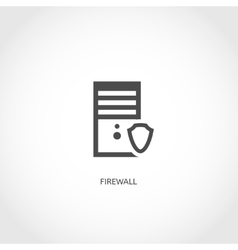 Network firewall icon vector