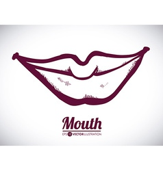Mouth woman design vector
