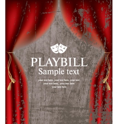 Playbill vector