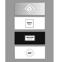 Modern cards design template with sharp line logos vector