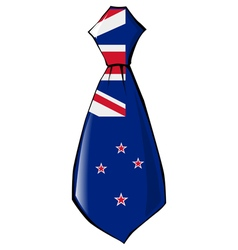 Necktie in national colours of new zealand vector
