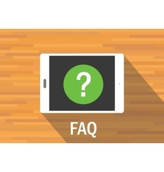 Faq frequently asked question vector