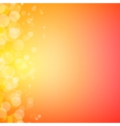 Abstract bokeh sparkles on sunny blurred vector