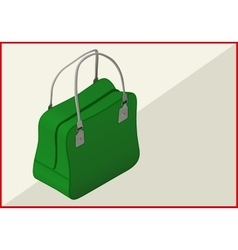 bag isometric flat 3d vector image vector image