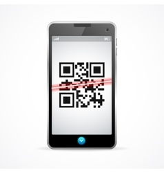 Barcode scanner phone vector