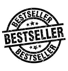 bestseller round grunge black stamp vector image vector image