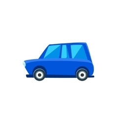 Blue family toy cute car icon vector