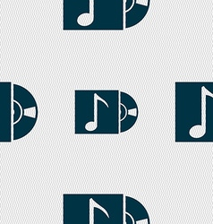 Cd player icon sign seamless abstract background vector