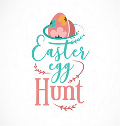 Colourful easter egg hunt greeting card design vector
