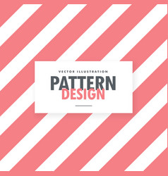 Cute pink and white diagonal stripes background vector