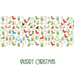 Design With Christmas Toys and Elements vector image vector image