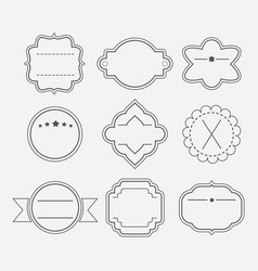 different shapes empty black line banners set vector image