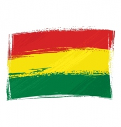grunge Bolivia flag vector image vector image