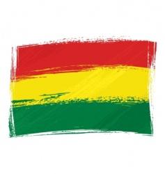 grunge Bolivia flag vector image vector image