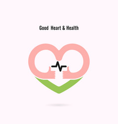 heart sign and hands icongood heart amp health vector image