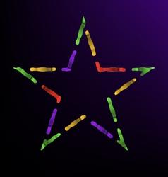 Magical star vector