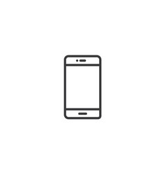 mobile phone icon line style vector image