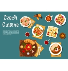 National czech cuisine nutritious dishes vector