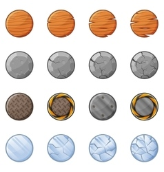 Round blocks for physics game 1 vector