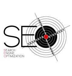 seo logo vector image