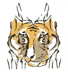 Tiger fashion design vector