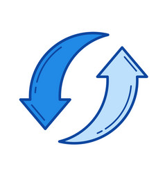 waste recycling line icon vector image