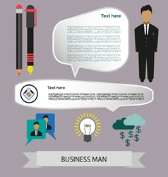 Business elements infographic with icons charts an vector