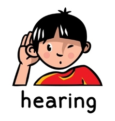 Hearing sense icon vector