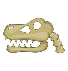 Dinosaur skull icon cartoon style vector image