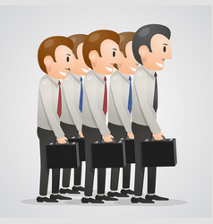 Office men with suitcases vector