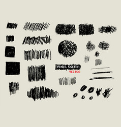Pencil doodle sketch texture background set vector
