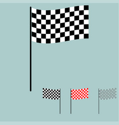 Racing flag black and white colour vector