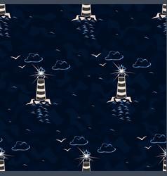 Marine seamless pattern vector