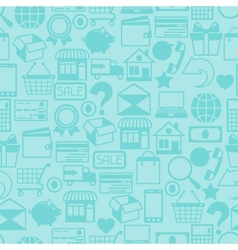 Internet shopping seamless pattern vector